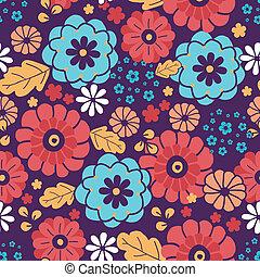 Farbige Bouquet-Blumen nahtlos Hintergrund.