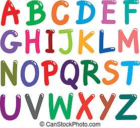 Farbige Buchstaben