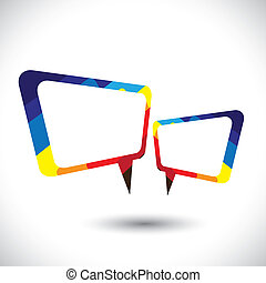 Farbige Chat-Ikone oder Sprachblase-Symbol-Vektorgrafik