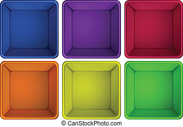 Farbige Container.