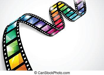 Farbige Filmstreifen