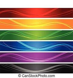 Farbige Flaggen
