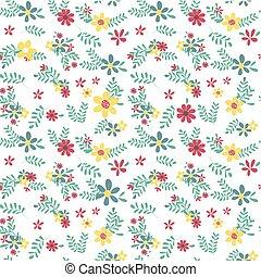 Farbige Frühlingsblumenmuster nahtlos.