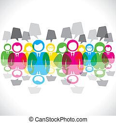 Farbige Geschäftsmänner treffen Nachricht B