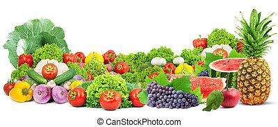 Farbige gesunde frische Früchte und Gemüse