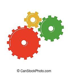 Farbige Getriebe. Vector Illustration