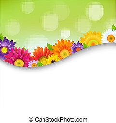 Farbige Keiler Blumenplakate.