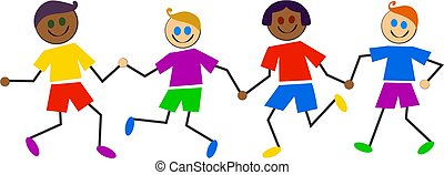 Farbige Kinder