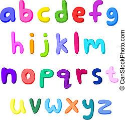 Farbige kleine Buchstaben