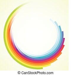 Farbige Kreisbewegungen im Hintergrund