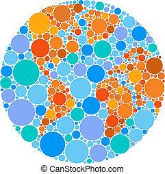 Farbige Kreiskugel