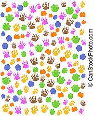 Farbige, nahrlose Tiere