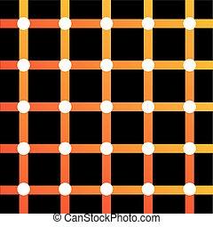 Farbige optische Illusion.