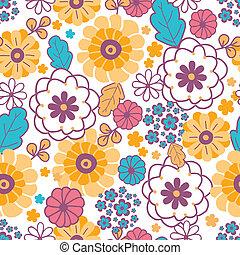 Farbige orientalische Blumen, nahtloser Hintergrund