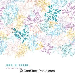 Farbige Pastellzweige, horizontaler, nahrloser Hintergrund
