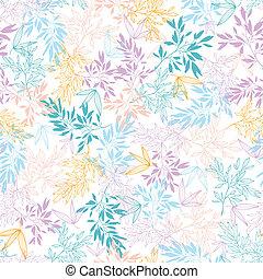 Farbige Pastelzweige, nahtloser Hintergrund