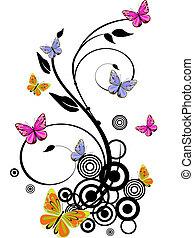 Farbige Schmetterlinge