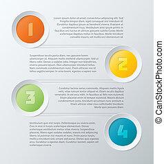 Farbige Schritte infographische Elemente