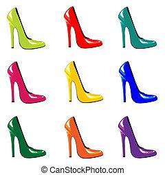 Farbige Schuhe