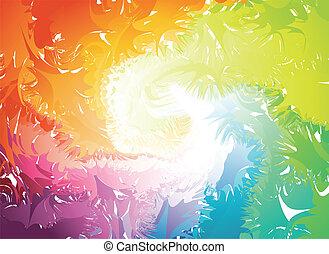 Farbige Splats Silhouette. Vector