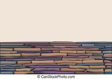 Farbige Steinmauer.