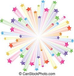 Farbige Sterne