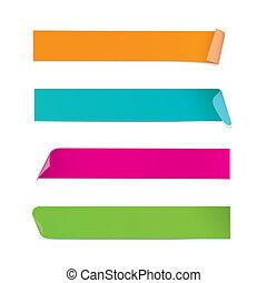 Farbige Sticker (vektor)