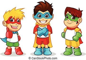 Farbige Superhelden.