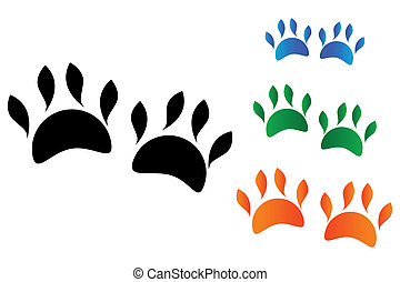 Farbige Tierpfote