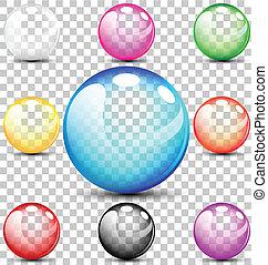 Farbige transluzente Blasen.