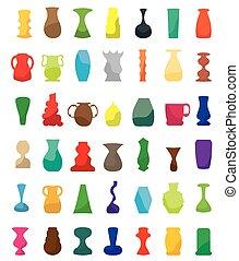 Farbige Vasen.
