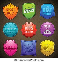 Farbige Verkaufsmarke