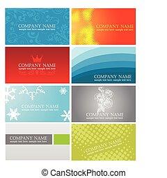 Farbige Visitenkarten