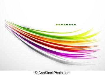 Farbige Wellenlinien