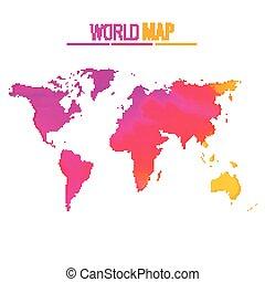 Farbige Weltkarte Vektordesign.