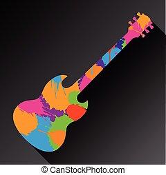 Farbiger, abstrakter Gitarren Hintergrund.