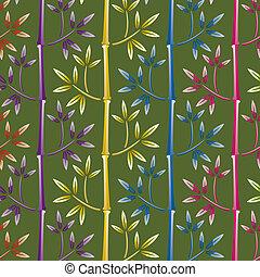 Farbiger Bambus Hintergrund