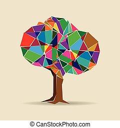 Farbiger Baum.