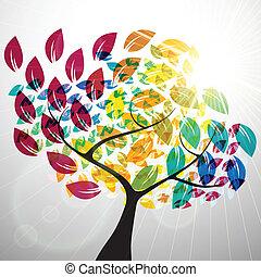 Farbiger Baum