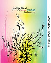 Farbiger Blumengrange