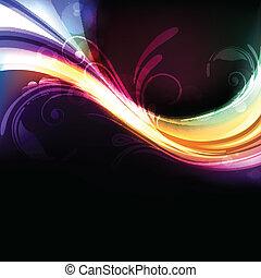 Farbiger, heller und lebhafter, abstrakter Vektor Hintergrund