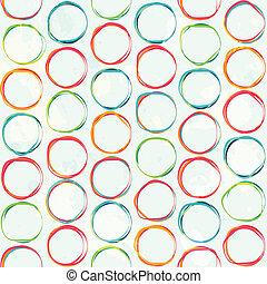 Farbiger Kreis nahtlos mit grunge Wirkung