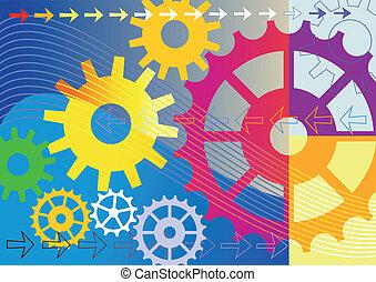 Farbiger mechanischer Hintergrund