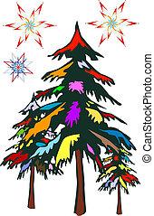 Farbiger Weihnachts-T