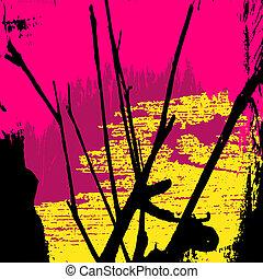 Farbiges abstraktes Muster Graffiti.