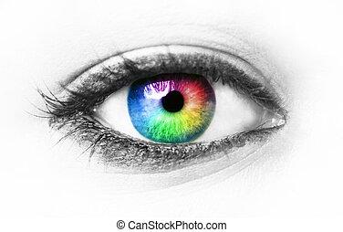 Farbiges Auge