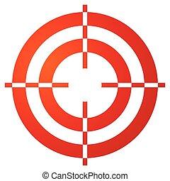 Farbiges Fadenkreuz, Reticle, Zielmarke auf weiß.