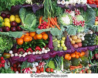 Farbiges Gemüse und Obst