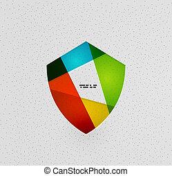 Farbiges Schutzschildpapierkonzept.