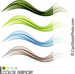 Farbkurvenlinien